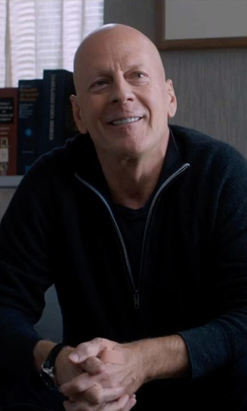 Bruce Willis with Victorinox Swiss Army Front Zip Sweater in Death Wish