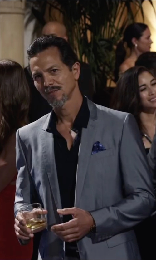 Benjamin Bratt with Brunello Cucinelli Dotted Print Pocket Square in Ride Along 2
