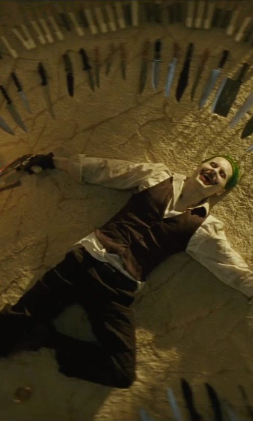 Jared Leto with A. Testoni Prong Monkstrap Loafers in Suicide Squad