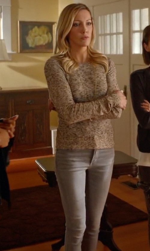 Katie Cassidy with Calvin Klein Jeans Ultimate Skinny Jeans in Arrow