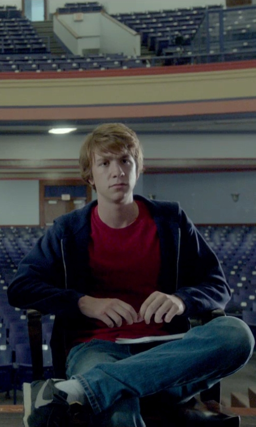 Thomas Mann with Nike Cortez Panelled Sneakers in Me and Earl and the Dying Girl