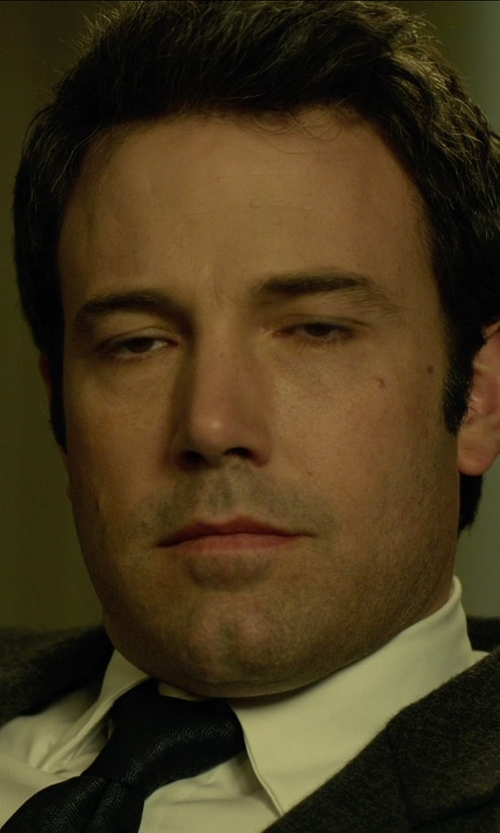 Ben Affleck with Stefano Ricci Solid Silk Tie in Gone Girl