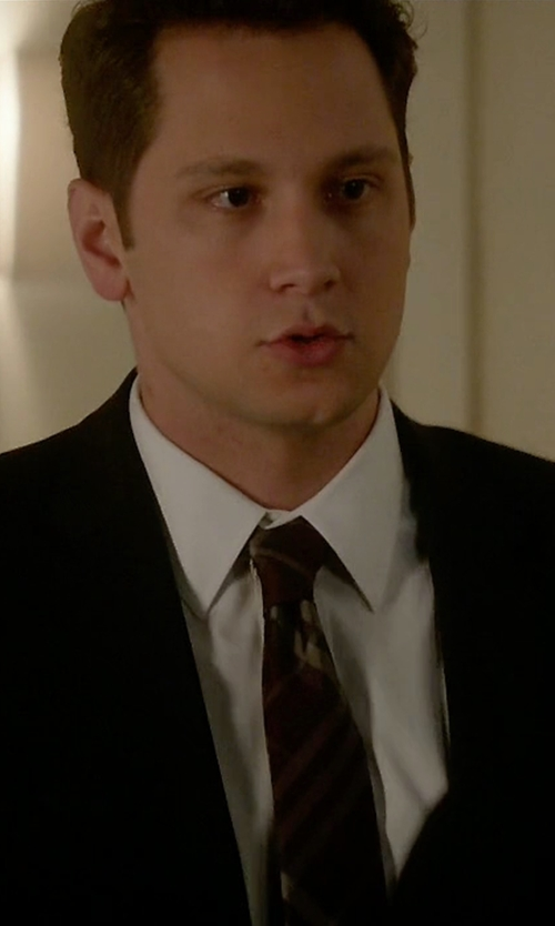 Matt McGorry with Burberry London Clinton Woven Silk & Wool Tie in How To Get Away With Murder