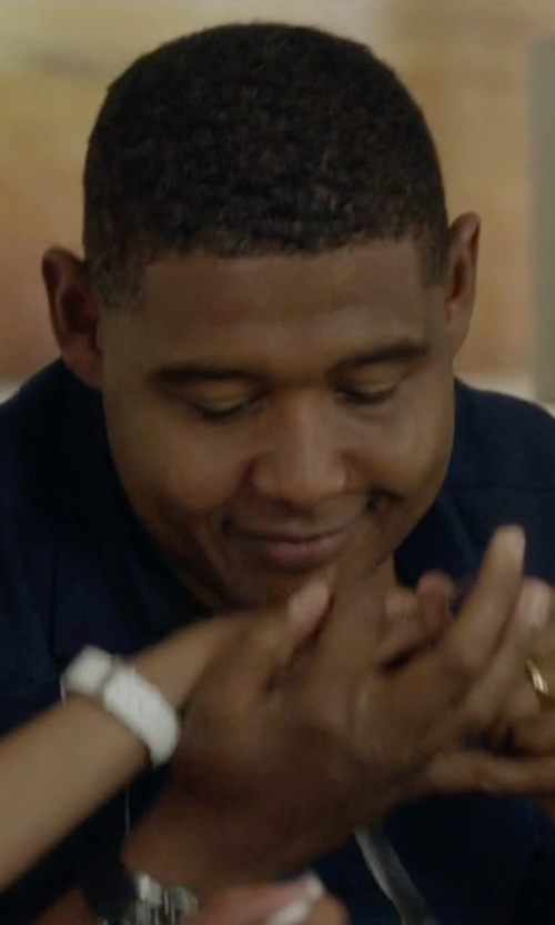 Omar Benson Miller with Lucida Wedding Band Ring in Ballers