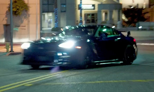 Paul Walker with Nissan GT-R Coupe in Furious 7