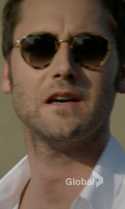 Ryan Eggold with Linda Farrow X Dries Van Noten Round Frame Sunglasses in The Blacklist