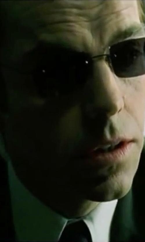 Hugo Weaving with Boss Hugo Boss 'Miles' Sharp Fit Check Dress Shirt in The Matrix