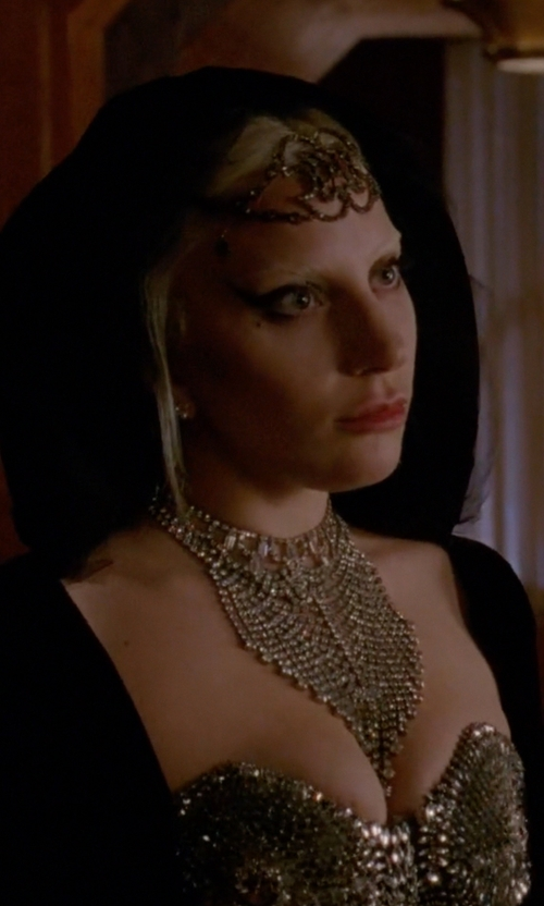 Lady Gaga with Calypso Worldly Statement Necklace in American Horror Story