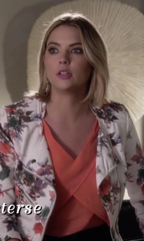 Ashley Benson with Rebecca Minkoff Malone Silk Cropped Top in Pretty Little Liars