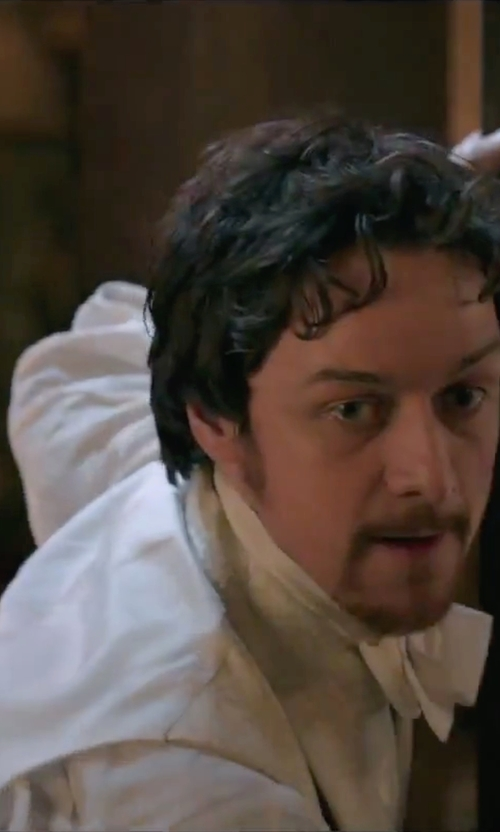James McAvoy with Todd Snyder White Label Trim Fit Solid Dress Shirt in Victor Frankenstein