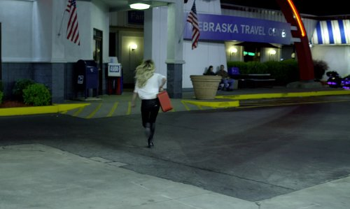 Imogen Poots with Travel Center Of Atlanta South (Depicted As Nebraska Travel Center) Jackson, Georgia in Need for Speed