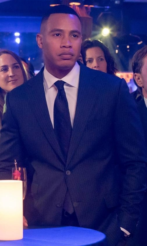 Trai Byers with Ermenegildo Zegna Solid Two-Piece Suit in Empire