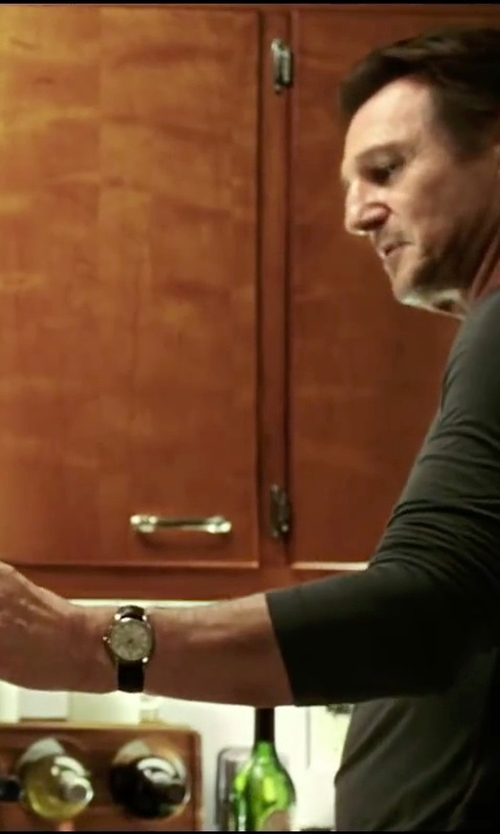 Liam Neeson with Hamilton Jazzmaster Series Mens Watch H32411555 in Taken 3