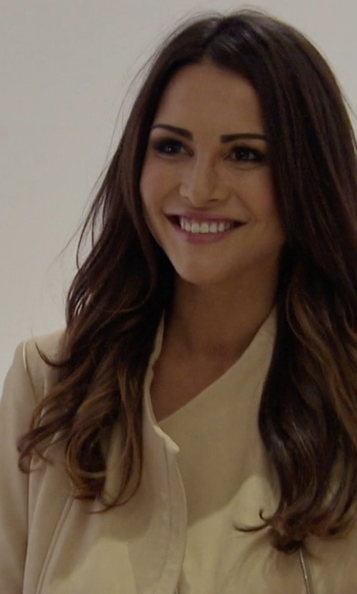 Andi Dorfman with Vince Asymmetric Leather Jacket in The Bachelor
