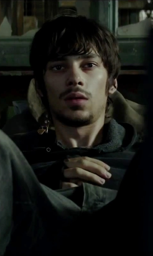 Devon Bostick with Hurley Staple Fleece Pullover Hoodie in Regression