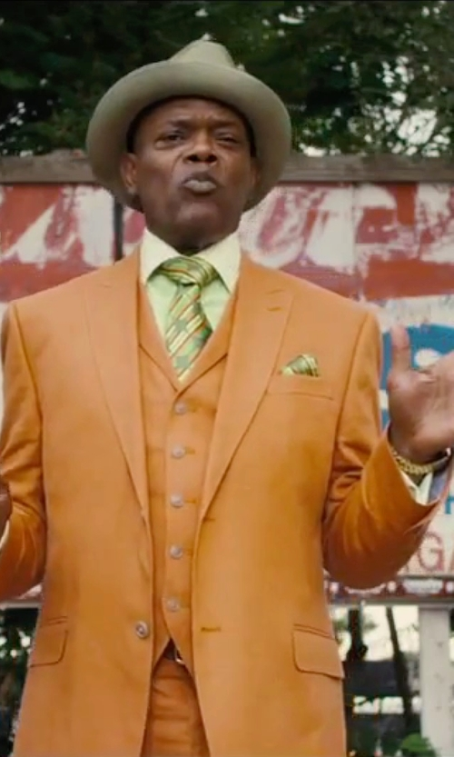 Samuel L. Jackson with Men's USA Three Piece Suit in Chi-Raq