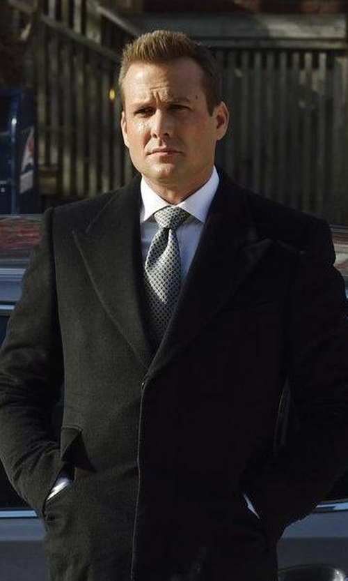 Gabriel Macht with Givenchy Frayed Evening Coat in Suits