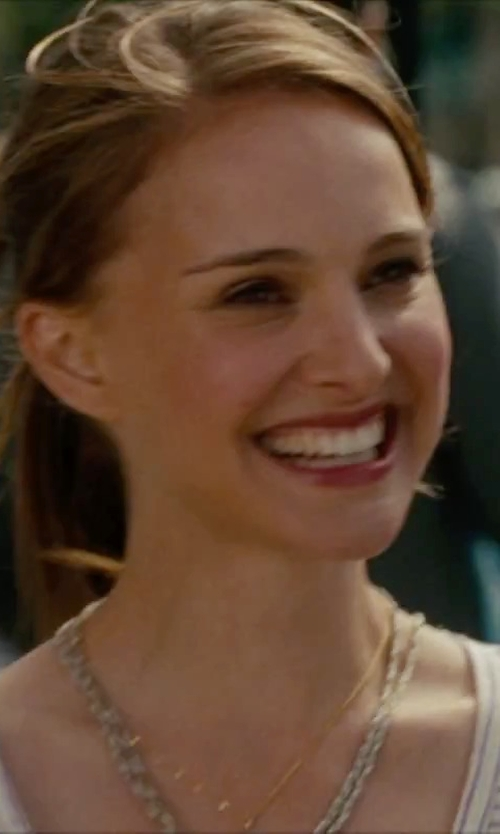 Natalie Portman with MeiraT 'Charmed' Diamond Pendant Necklace in No Strings Attached