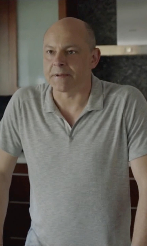 Rob Corddry with Zara V Neck Polo Shirt in Ballers