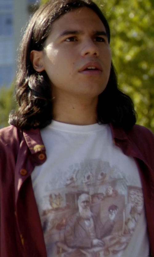 Carlos Valdes with Threadless Men's Graphic Tee in The Flash