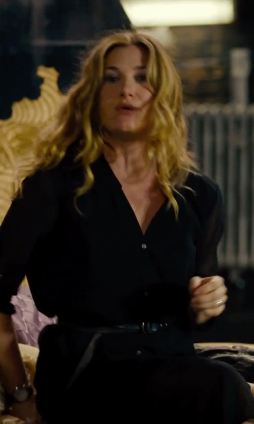 Kathryn Hahn with Michael Kors Belted Long-Sleeve Shirtdress in She's Funny That Way