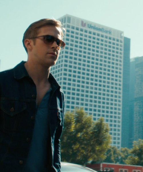 Ryan Gosling with Union Bank Los Angeles, California in Drive
