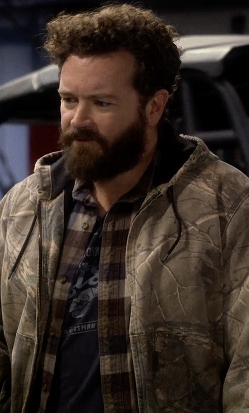Danny Masterson with Carhartt Thermal Lined Camo Active Jacket in The Ranch