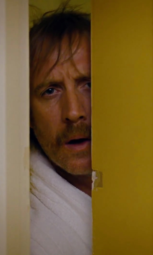 Rhys Ifans with Alexander Del Rossa Men's Thick Terry Cloth Cotton Bathrobe in She's Funny That Way