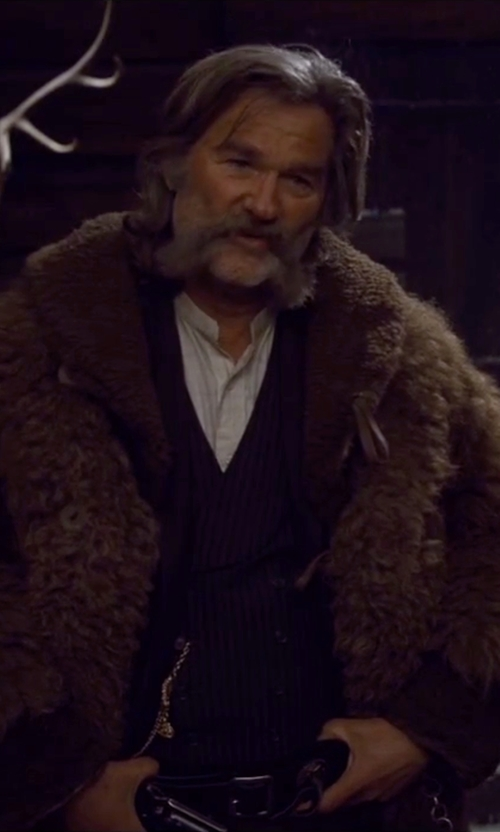 Kurt Russell with Perry Ellis Solid Long Sleeve Shirt in The Hateful Eight