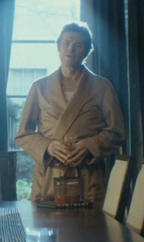 Willem Dafoe with Barneys New York Cashmere Wrap Robe in John Wick
