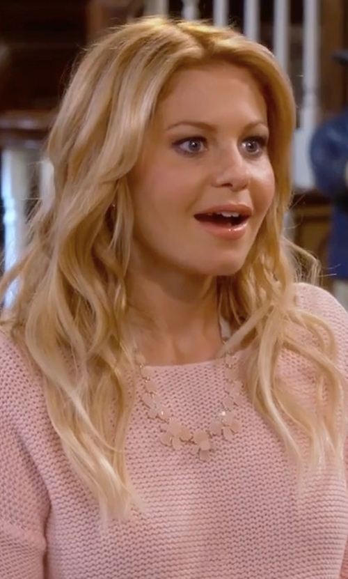 Candace Cameron Bure with Theory Mirzi Refined Merino Wool Sweater in Fuller House
