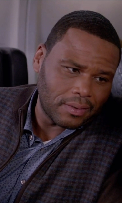 Anthony Anderson with Adidas Originals Superstar Tweed Check Track Jacket in Black-ish