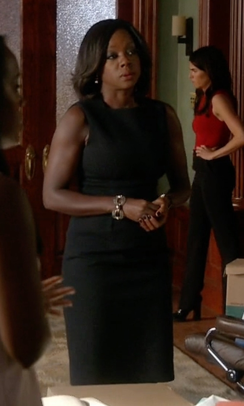 Viola Davis with Boss Black Dirusa Stretch Wool Sheath Dress in How To Get Away With Murder