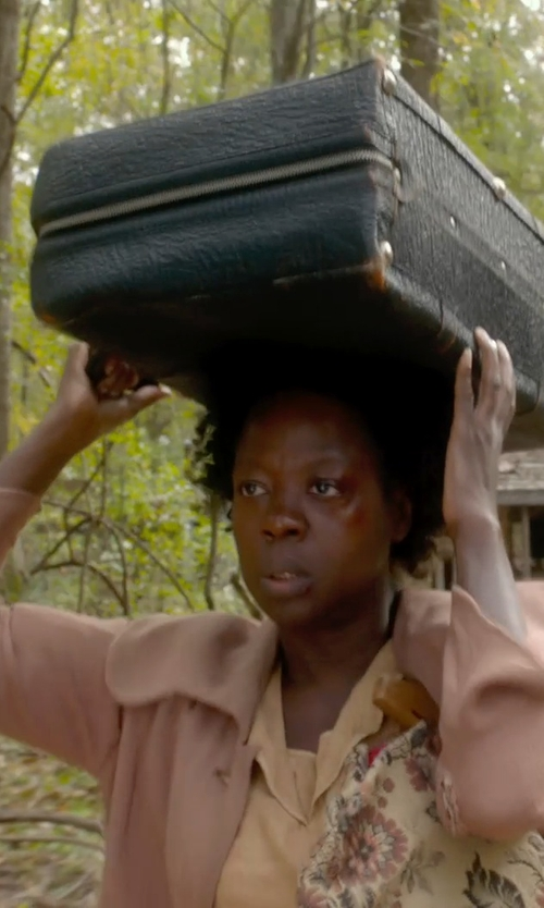 Viola Davis with Alice And You Light Pink Slim Lapel Blazer in Get On Up