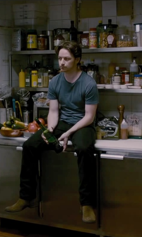 James McAvoy with BLK DNM Classic T-Shirt 3 in The Disappearance of Eleanor Rigby