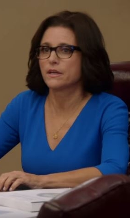 Julia Louis-Dreyfus with Celine Clear Eyeglasses in Veep
