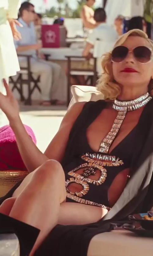 Kim Cattrall with Ivana Sert Studded Swimsuit in Sex and the City 2