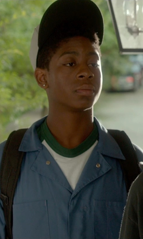 RJ Cyler with Kohl's Diamond Stud Earring in Me and Earl and the Dying Girl