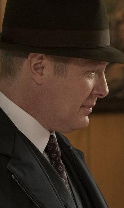 James Spader with Kiton Micro Floral Printed Tie in The Blacklist