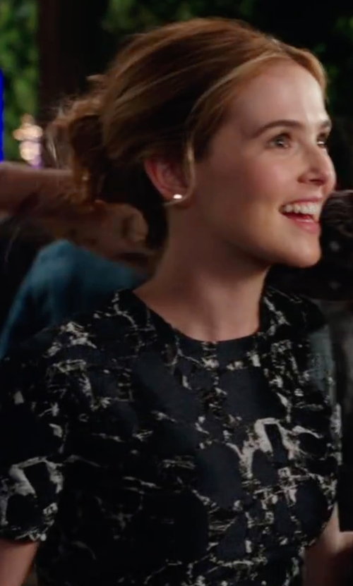 Zoey Deutch with Givenchy Geometric Stars Cotton Short Sleeved T-Shirt in Why Him?