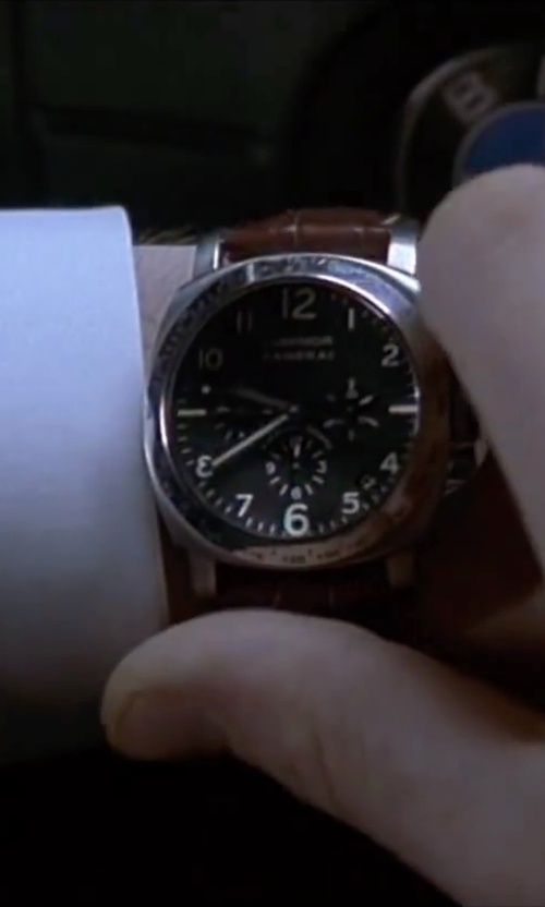 Jason Statham with Panerai Luminor Chrono Watch in The Transporter