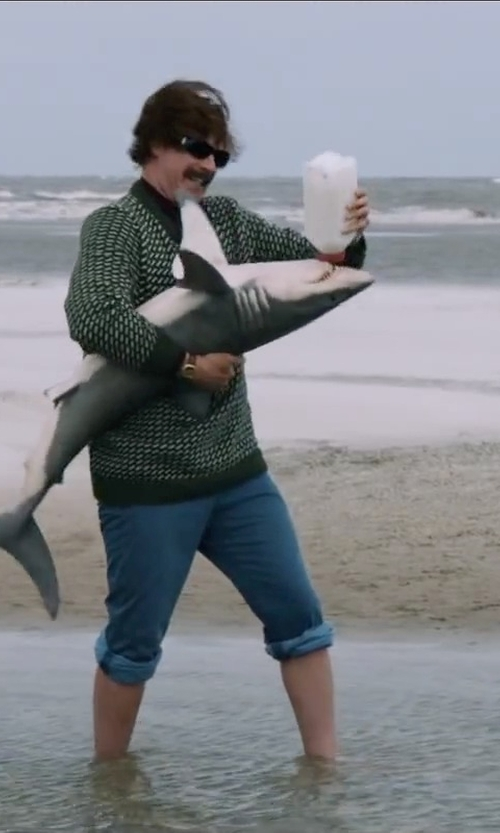 Will Ferrell with Wildlife Artists XL Great White Shark Stuffed Animal in Anchorman 2: The Legend Continues