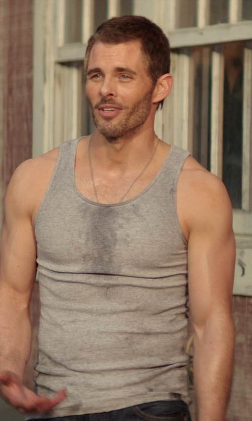 James Marsden with Fruit of The Loom Tank Top in The Best of Me