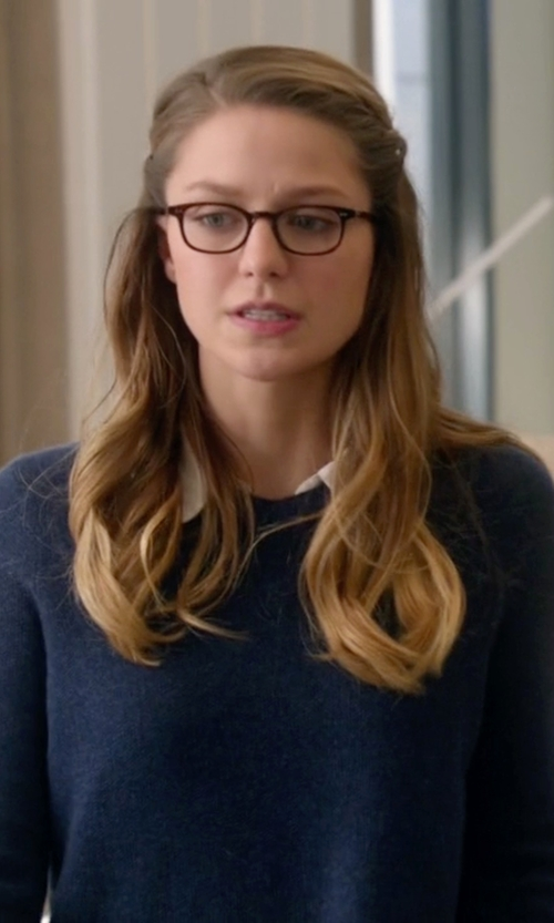 Melissa Benoist with Joie Thevenette Twofer Sweater in Supergirl