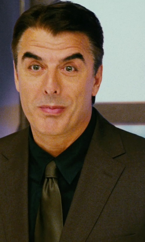Chris Noth with Ralph Lauren Black Label Anthony Two-Button Suit in Sex and the City