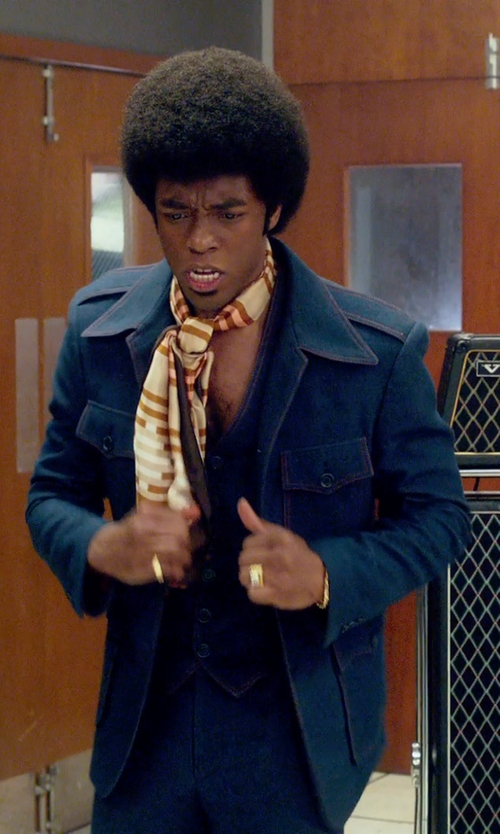 Chadwick Boseman with Rainfair 1970's Mens Leisure Jacket in Get On Up