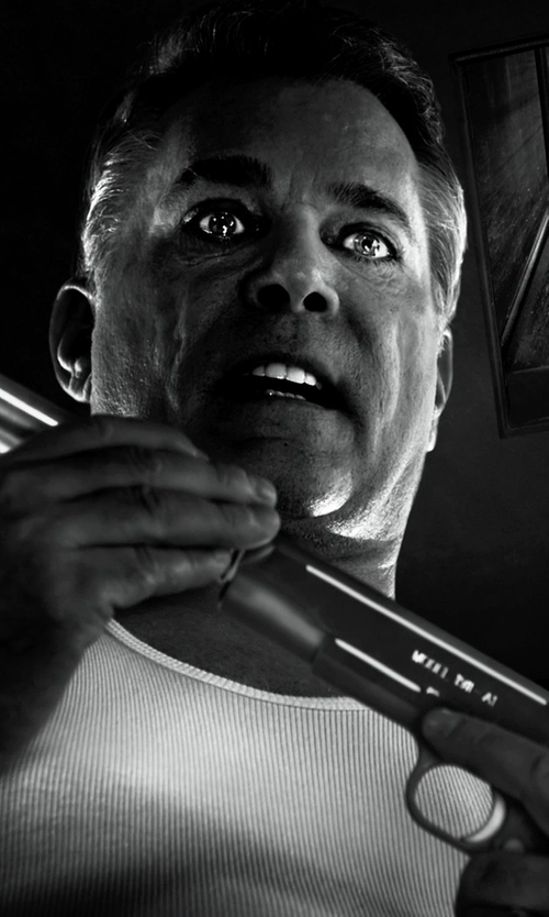 Ray Liotta with ASOS Rib Tank in Frank Miller's Sin City: A Dame To Kill For