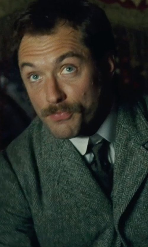 Jude Law with Giorgio Armani	 Waffle-Knit Silk Tie in Sherlock Holmes: A Game of Shadows
