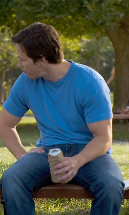 Mark Wahlberg with Brioni	 Five-Pocket Denim Jeans in Ted 2