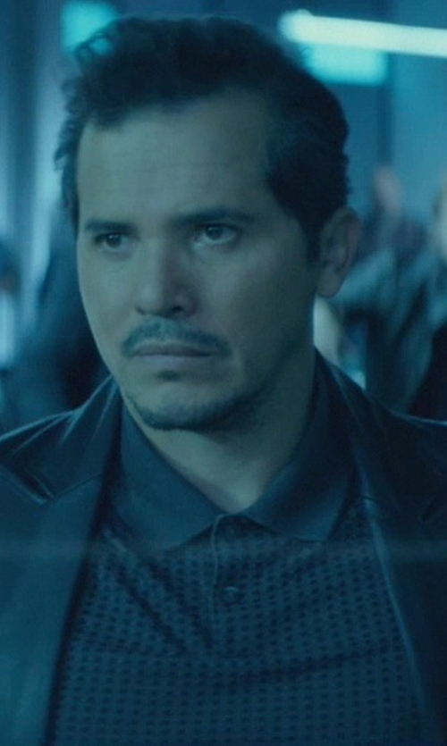 John Leguizamo with Dsquared2 Ribbed Panel Polo Shirt in John Wick